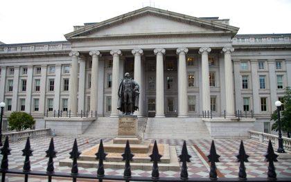 U.S. Treasury building, Washington, DC. Source: Wikimedia Commons