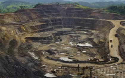 An open pit at the Tenke Fungurume mine. Freeport-McMoRan Inc. The largest copper mine in the Democratic Republic of Congo. (Photo: Johnny Hogg / Reuters)