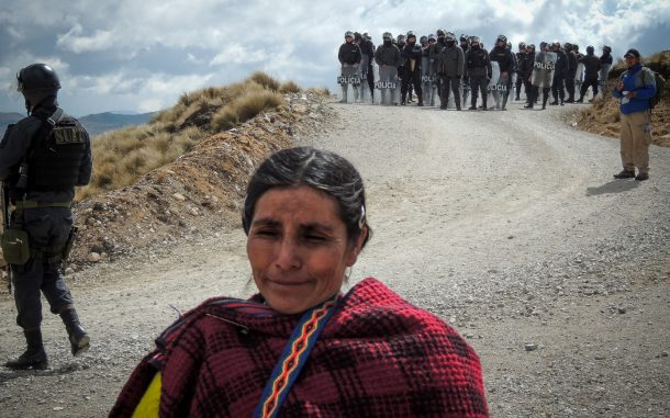 Máxima Acuña de Chaupe near her home in Cajamarca, Peru in 2014. (Photo: Guaricha)
