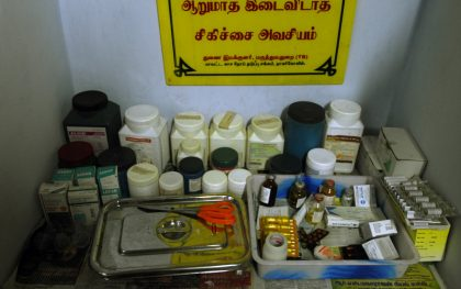 Medicines at James Hospital Aids Clinic in Sri Lanka. (Photo: Atul Loke/ Panos Pictures)