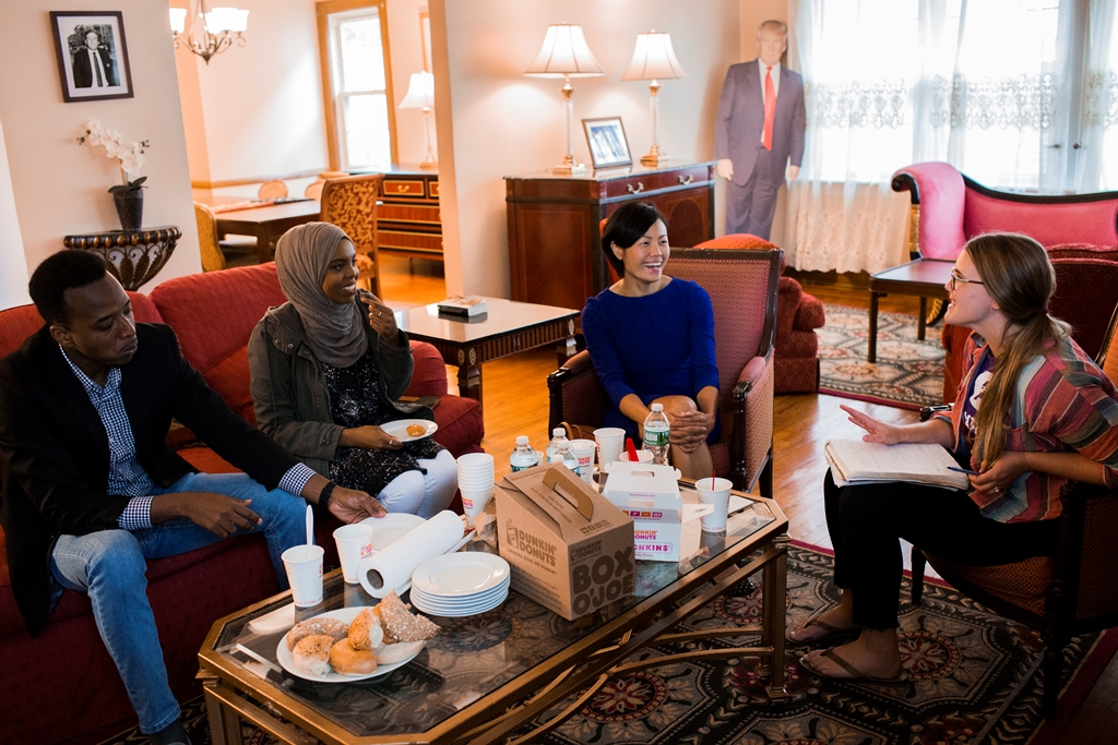 These refugees stayed at Donald Trump's childhood home