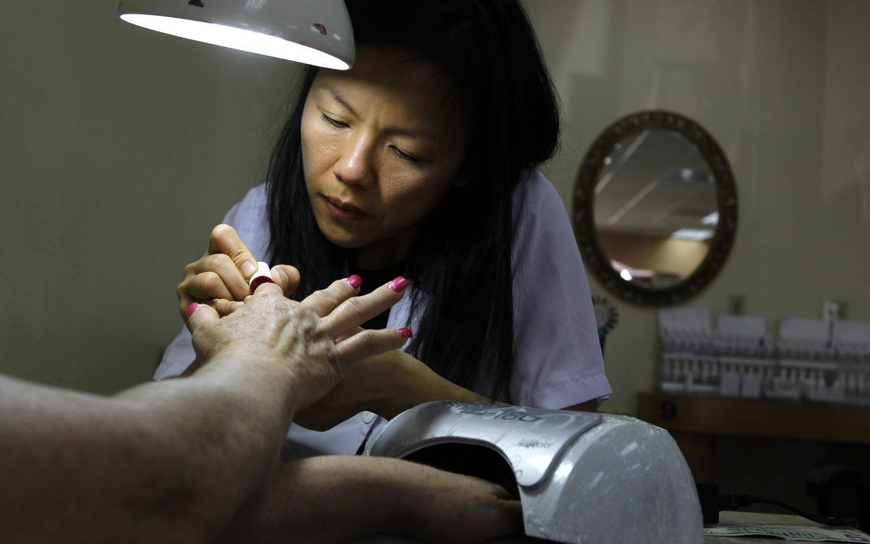 nail salon worker partisan wage divide