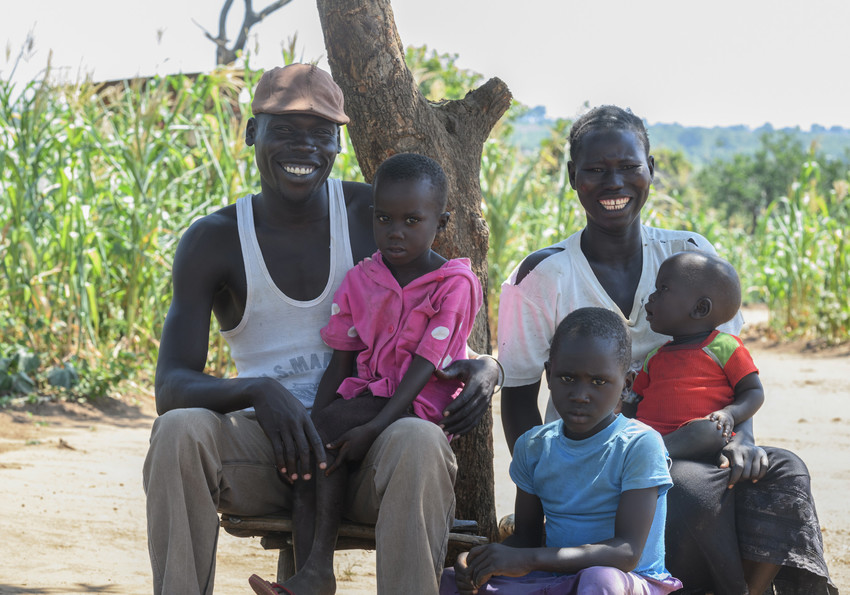 refugees family from south sudan in uganda