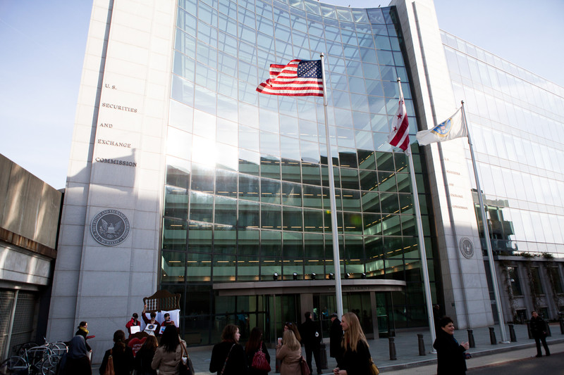 a photo of the US Securities and Exchange Commission in Washington, DC