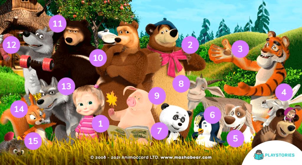 Masha and the Bear Characters