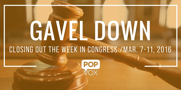 POPVOX Gavel Down_Closing Out the Week in Congress_Mar_7_11_2016