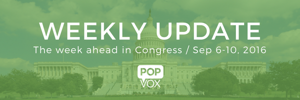 POPVOX Weekly Update (Sep 6-9) header