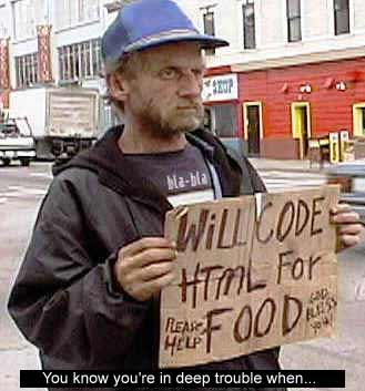 Will Code HTML For Food!