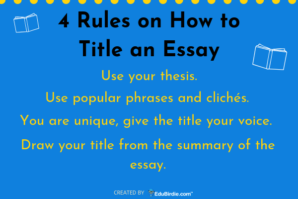 Proposal Essay Topic  Examples Of A Proposal Essay also My Hobby Essay In English Full Guide On How To Title An Essay Successfully  Edubirdiecom Examples Of Thesis Statements For Persuasive Essays