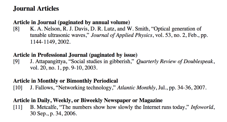 ieee journal citation example