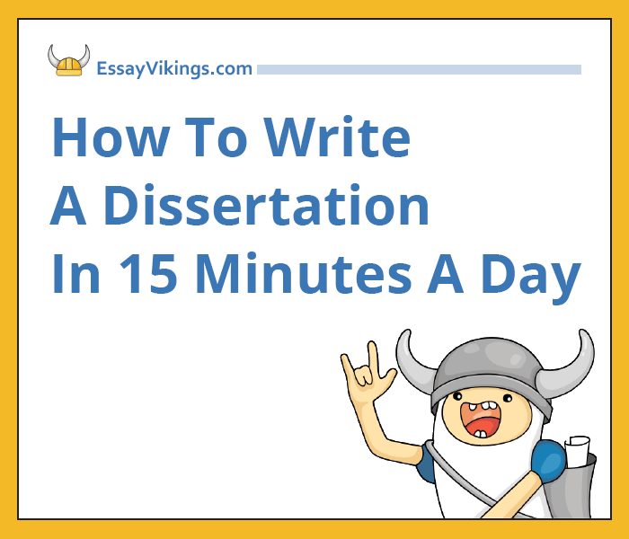 dissertation in fifteen minutes a day The purpose of this course is to improve your academic writing the best-selling writing workbook by wendy laura belcher thousands oaks, ca 11 hours ago.