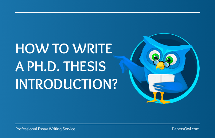 How to write an introduction to a phd dissertation