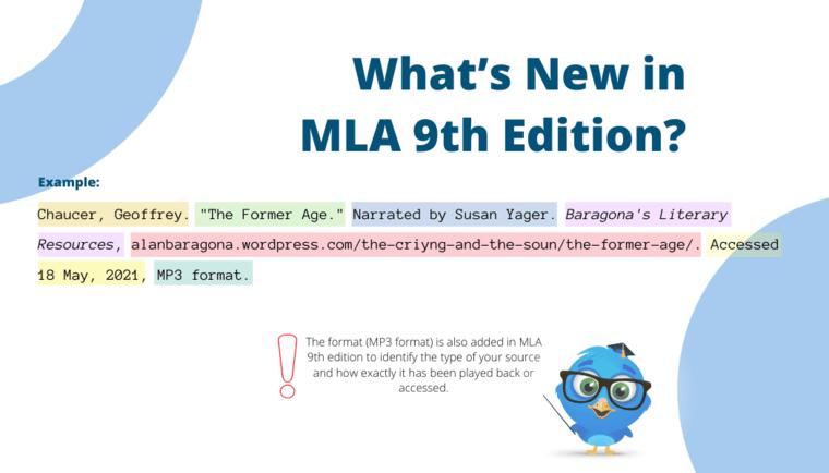 MLA 9th edition format
