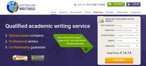 AustralianWritings.com Review: Online Essay Writing Company