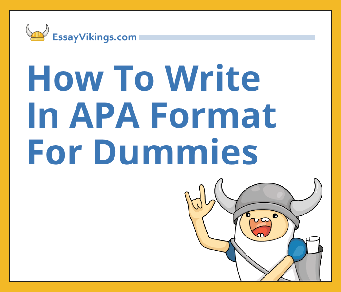 Apa writing format for dummies