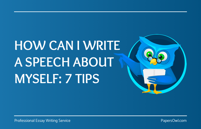 How to write a speech about myself