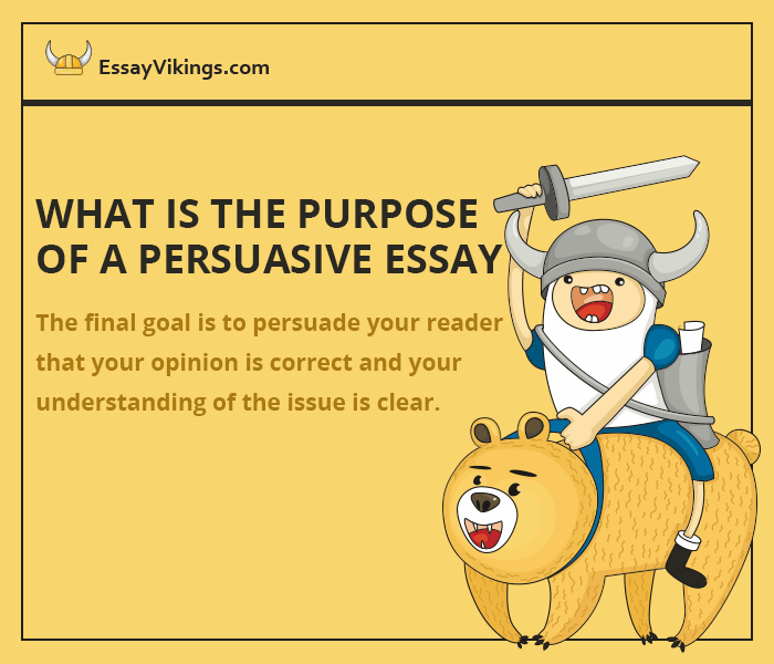the purpose of a persuasive essay is to: So the purpose of an expository essay is to teach a student how to research, structure data, link facts, statements, opinions to each other what is the purpose of persuasive essay what are the characteristics of an expository essay.