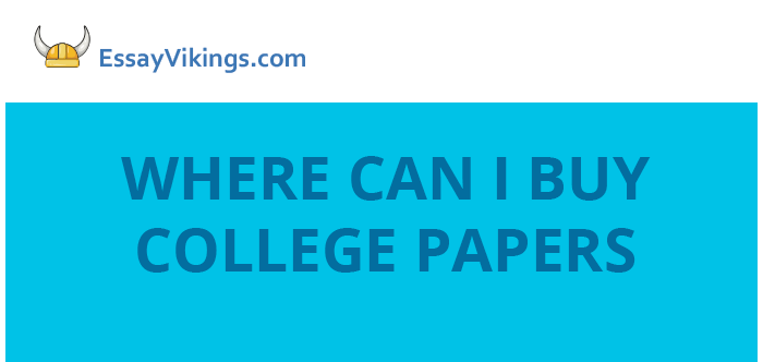 Where can i buy college papers
