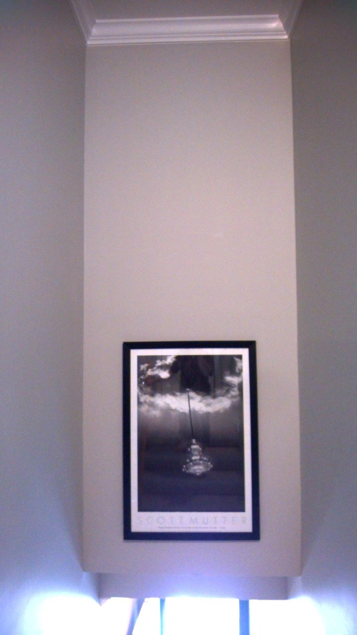 Finally hung the picture in the stairway