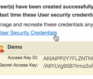 AWS Access Key ID and Secret Access Key
