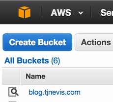 AWS S3 Create Bucket