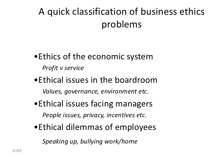 ethical issues in business statistics