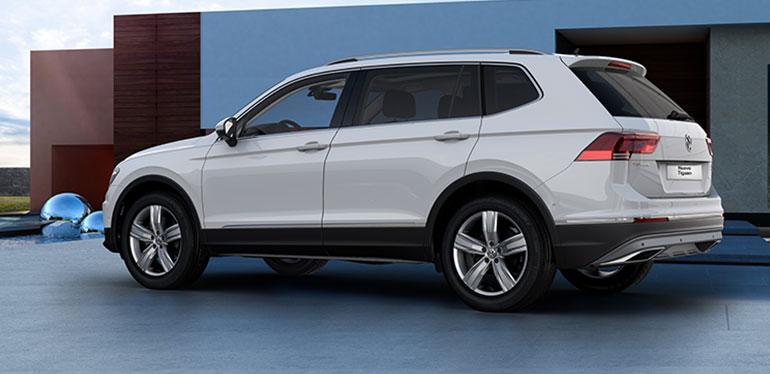 Vista lateral de Nuevo Tiguan 2018, SUV de Volkswagen