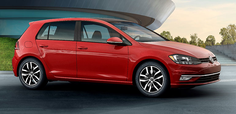 Golf 2018 de Volkswagen en color rojo