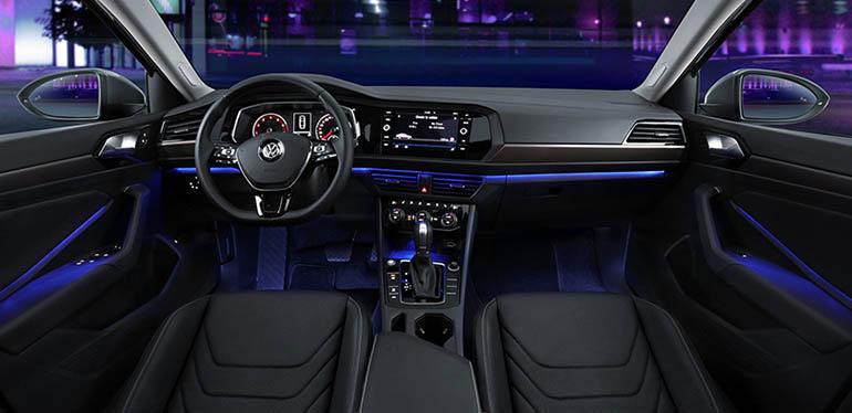 Vanguardista e innovador diseño de interiores del automóviljetta2019 de Volkswagen