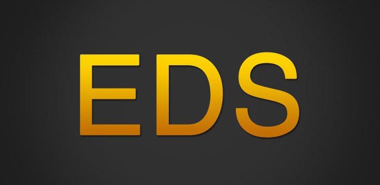 Logotipo del sistema EDS encontrado en los vehículos Volkswagen