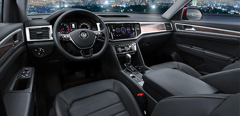 Consola e interiores del Nuevo Teramont 2019 de Volkswagen