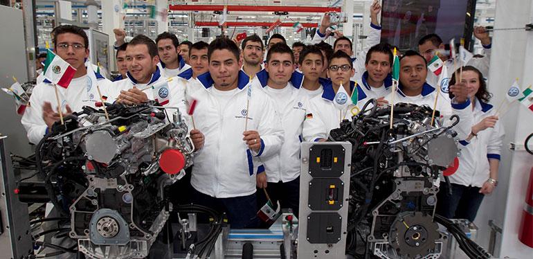Planta de motores Volkswagen México y sus empleados
