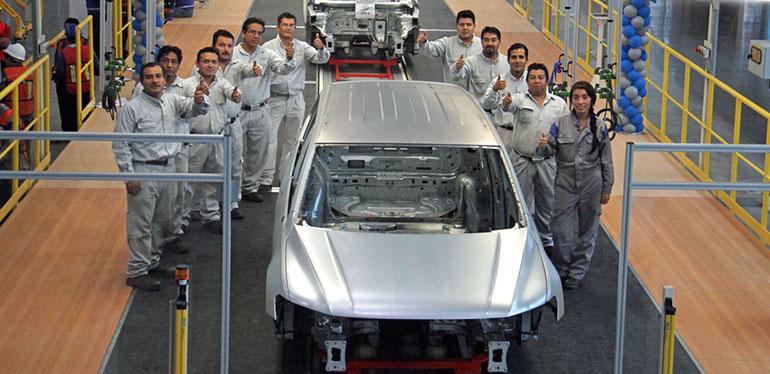 Carrocería de Tiguan en la planta Volkswagen México