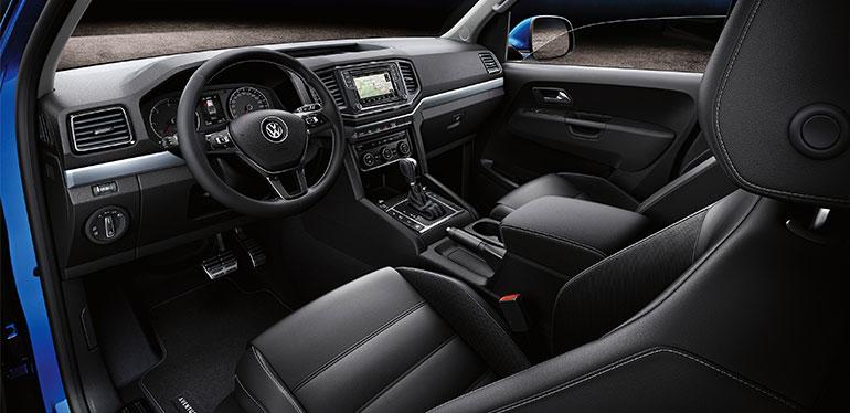 Vista interior de la camioneta Amarok de Volkswagen
