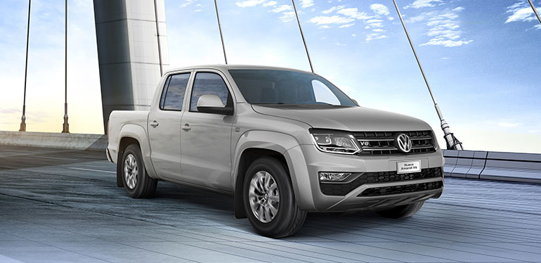 Vista frontal de la camioneta Amarok de Volkswagen