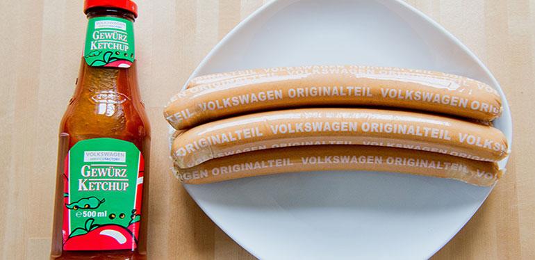 Salchichas Volkswagen y catsup, ingredientes del currywurst