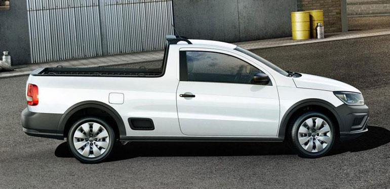 Volkswagen Saveiro, vehículo comercial en color blanco