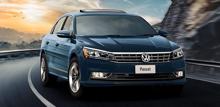 Vista frontal de Passat vehiculo de Volkswagen