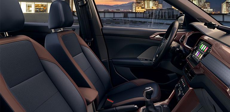 Interior del nuevo SUV T-Cross de Volkswagen