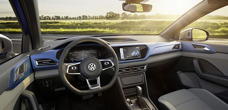Vista interior de la nueva pick-up concepto Tarok de Volkswagen