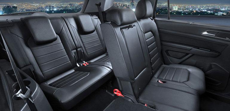 Asientos abatibles en uno de los SUV de Volkswagen