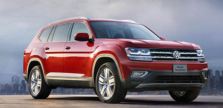 Nuevo Teramont de Volkswagen en color rojo