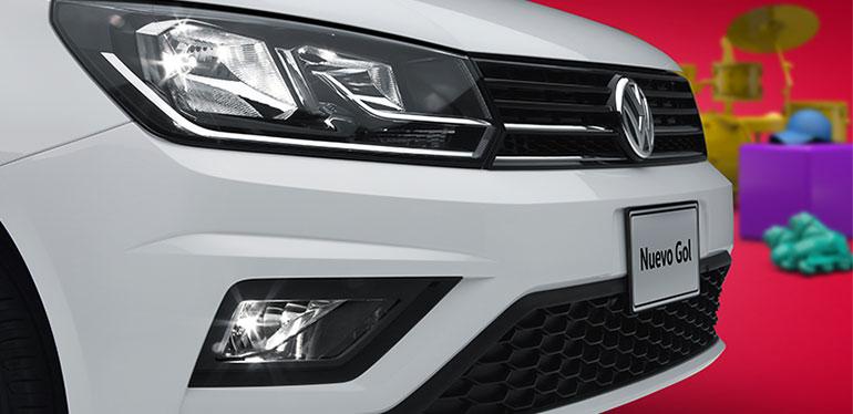 Parrilla y faro delantero de Gol Edición Aniversario de Volkswagen