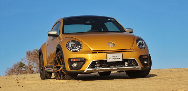 Vista frontal de Beetle final edition de Volkswagen en color blanco