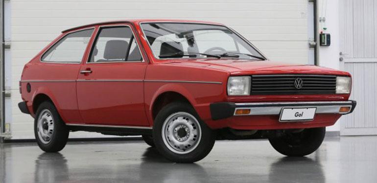 Gol G1 de Volkswagen de 1980 color rojo