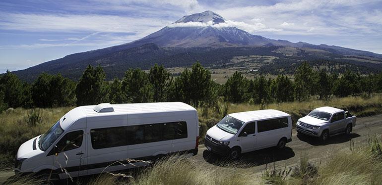 Camionetas Volkswagen presentes en el proyecto Cumbre Itza