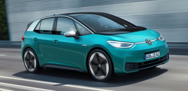 Nuevo ID.3 el nuevo automóvil eléctrico de Volkswagen presentado en el International Motor Show en Frankfurt
