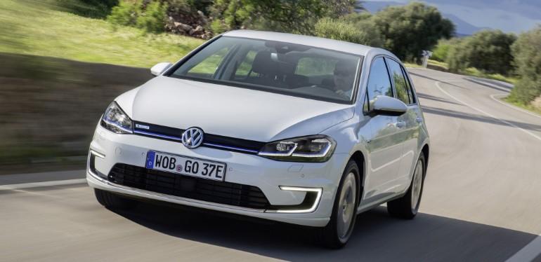 e-Golf de Volkswagen el auto deportivo con ahorro de energía presentado en el International Motor Show