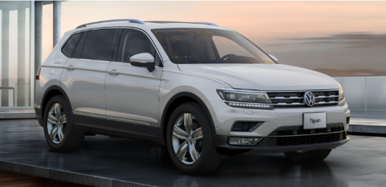 Tiguan 2019 Volkswagen en tono blanco calificada como la SUV más segura para adultos y niños