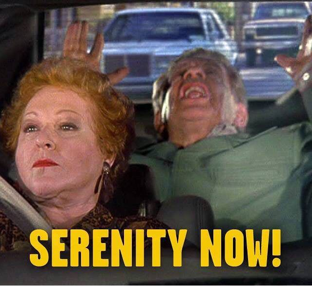 Frank and Estel Costansa in car Serenity Now
